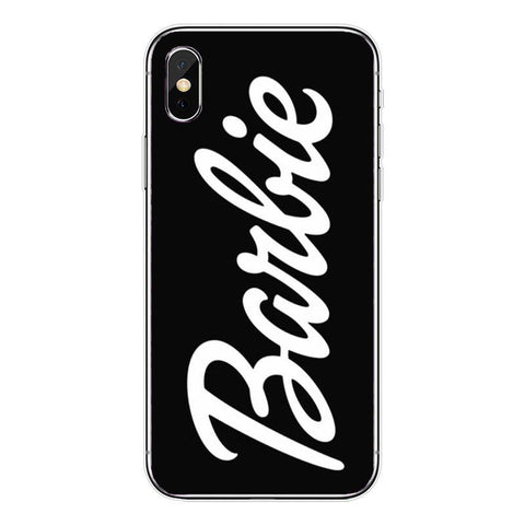 Black Barbie Logo Hard Case - Hard Case For iPhone | Dope Phone Cases
