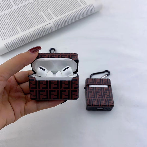 Brown luggage fendi airpod pro Case