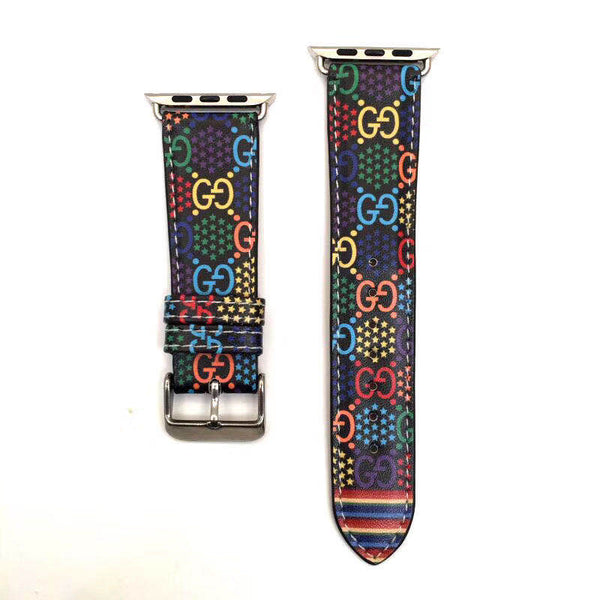 Gucci colorful pixel Apple Watch Band