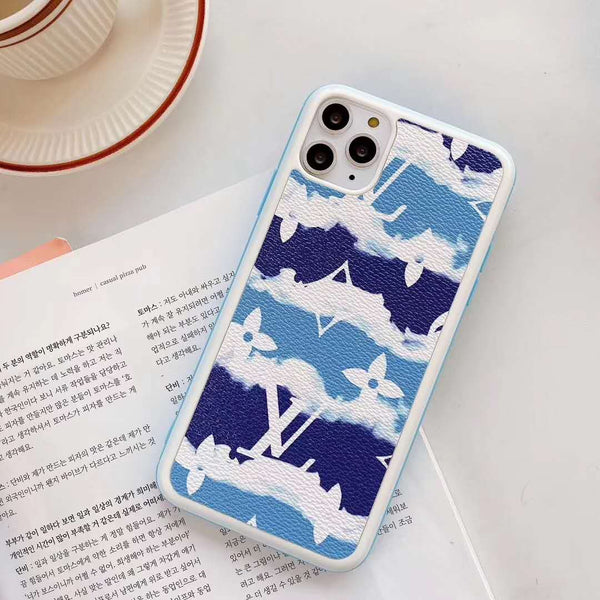 Tie Dye Big Blue LV Tpu case