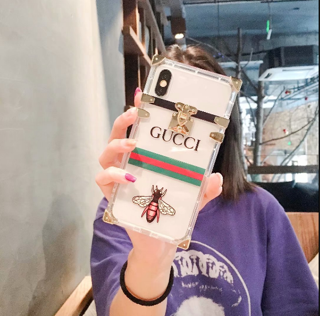 Transparent Gucci Bee TPU case
