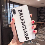 White Balenciaga Glass Case