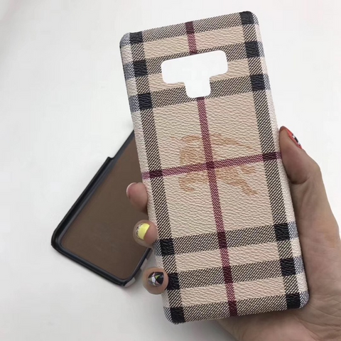 Burberry leather galaxy case