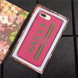 Gucci leather pink logo case