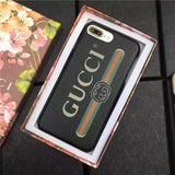 Gucci leather Black logo case