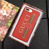 Gucci leather Red logo case