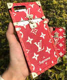 LV x Supreme Red Metal Two Piece Trunk Case