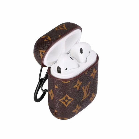 Tiny Brown LV Airpod Case
