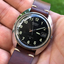 Load image into Gallery viewer, Covert and classy Seiko 7005-8030 'MACV-SOG' Vietnam era field watch