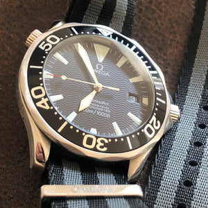 Omega Seamaster 300M Automatic Dive Watch ref. 2254.50.00 w/ box, papers and NATO strap.