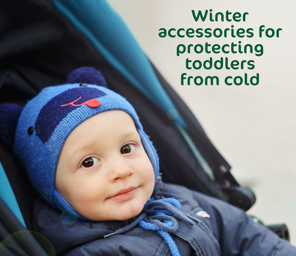 Winter accessories for protecting toddlers from cold