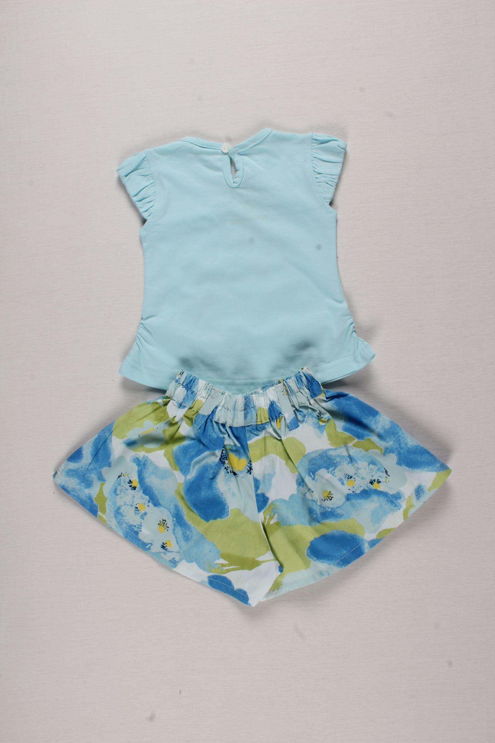 Half Sleeves Top and Shorts Set