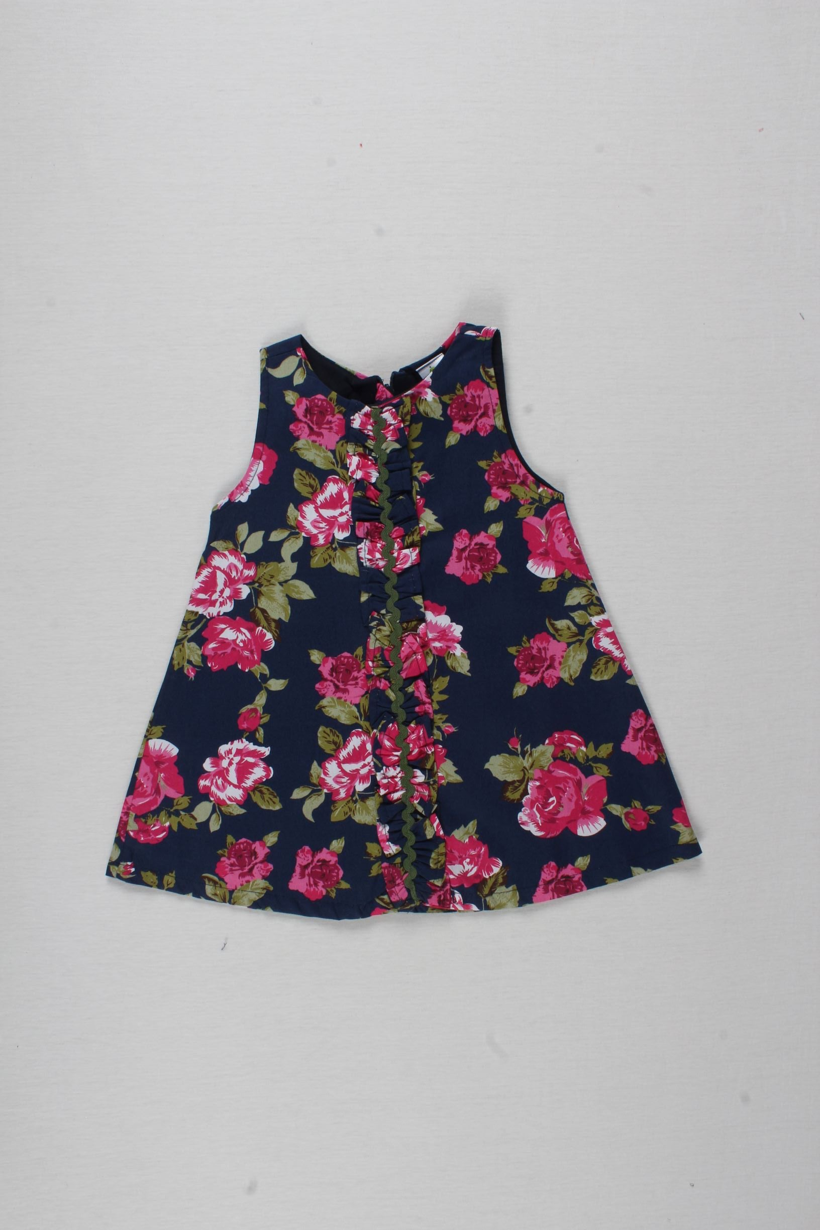 Floral Print Sleeveless Frock