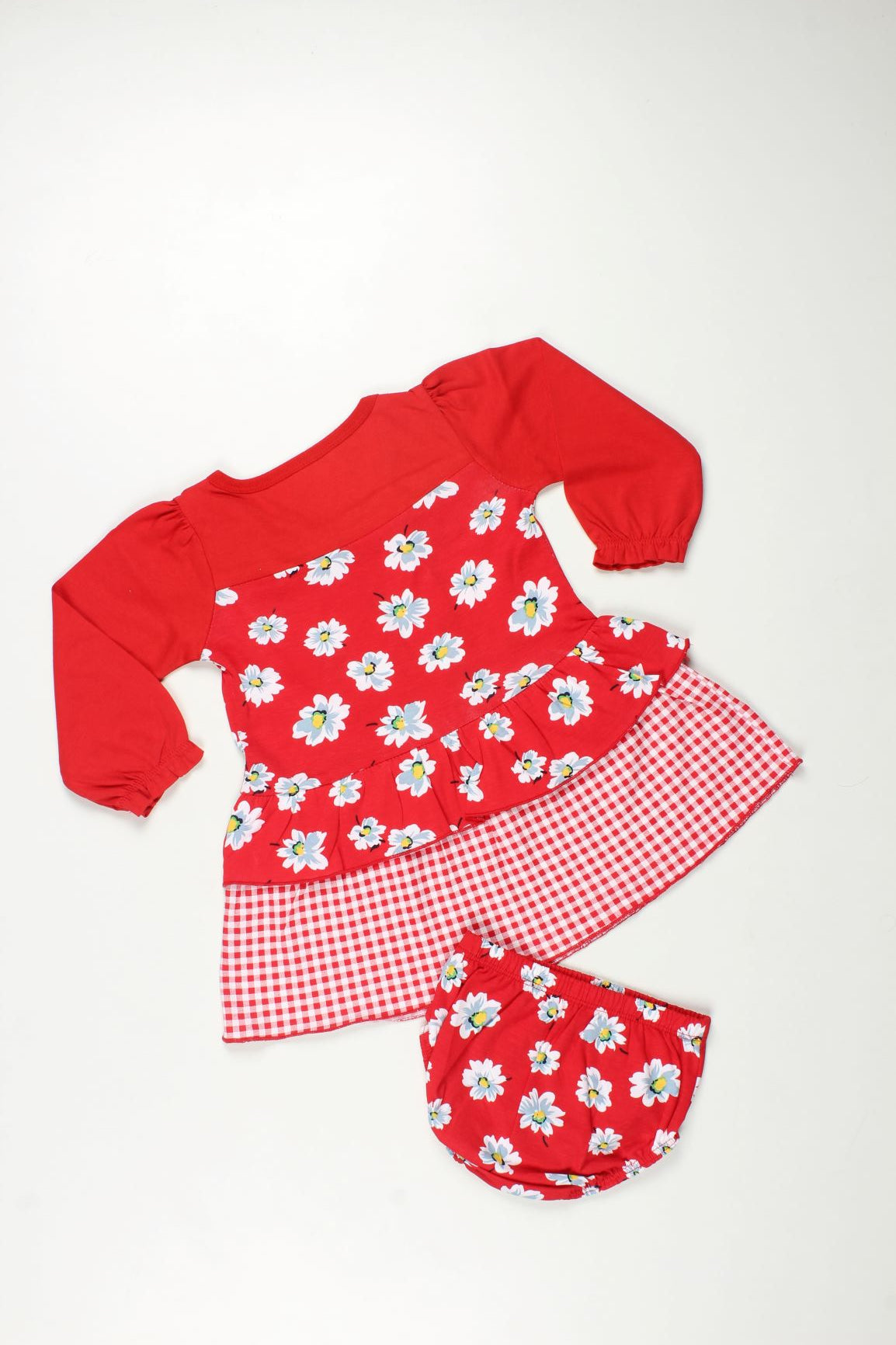Printed Frock with Diaper wear