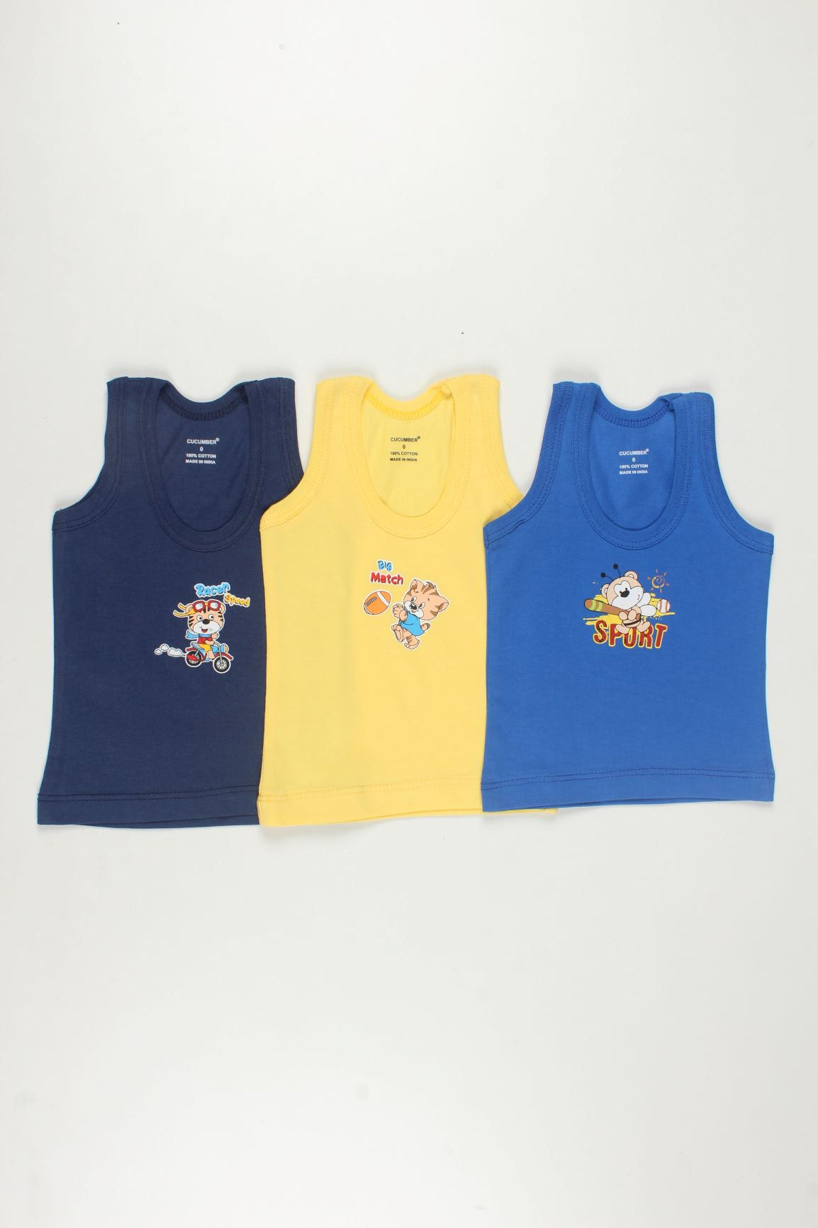 Sleeveless Vests (Pack of 3)