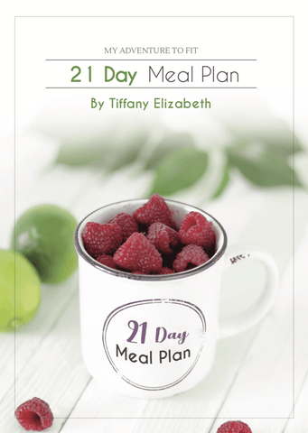 21 Day Meal Plan - Hard Copy - *pdf not included