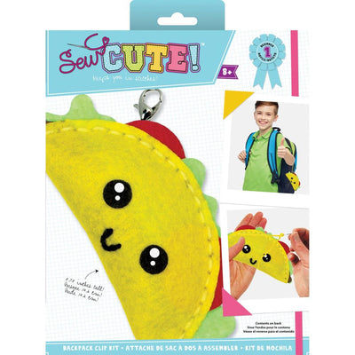 Sew Cute! Felt Backpack Clip Kit - Taco