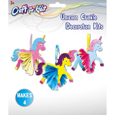 Craft Kit - Unicorn Crinkle Decorations