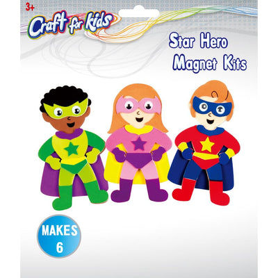 Craft Kit - Superhero Magnets
