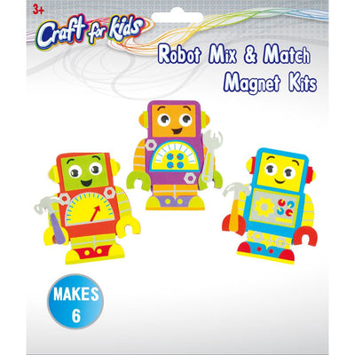 Craft Kit - Robot Magnets