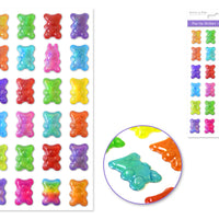 Pop Up Gummy Bear Stickers