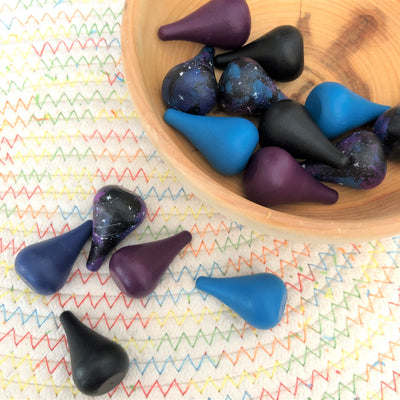Wood Parts - Teardrops - 15 Pieces (Galaxy)
