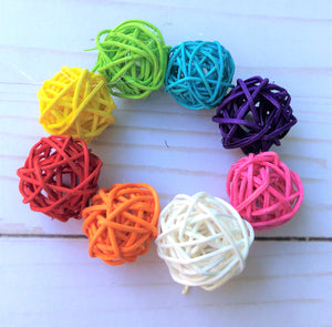 8 Pieces Rattan Balls - Rainbow