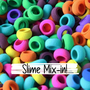Slime Mix In - Foam Cricles, 1/2 cup