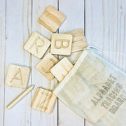 Wood Alphabet Tracing Mini Boards