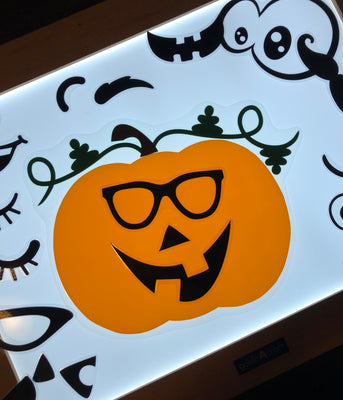 Jack O'Lantern Light Table Activity Set - LIMITED TIME ONLY!