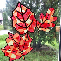 Fall Leaves Sun Catcher Crafts