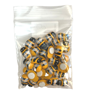 Mini Adhesive Bumble Bees - 30 Pieces