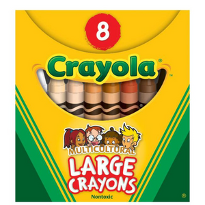 Multicultural Colors Crayons - Crayola 8 Pack (Large)