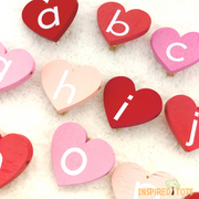 Alphabet Heart Clips