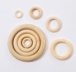Wooden Rings  - 50 Pieces