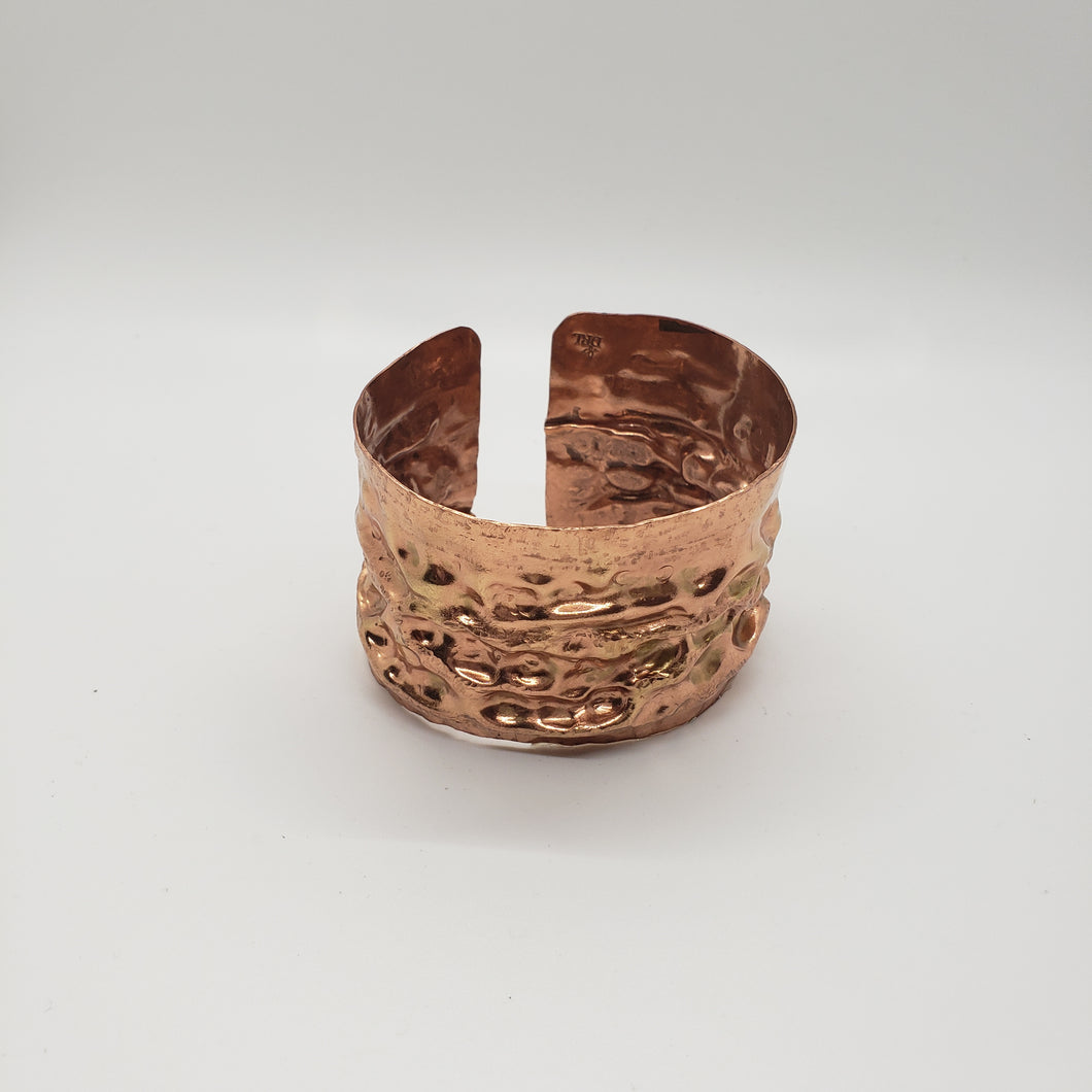 Copper Textured Cuff Bracelet