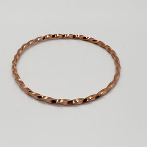 Copper Twist Closed Bracelet