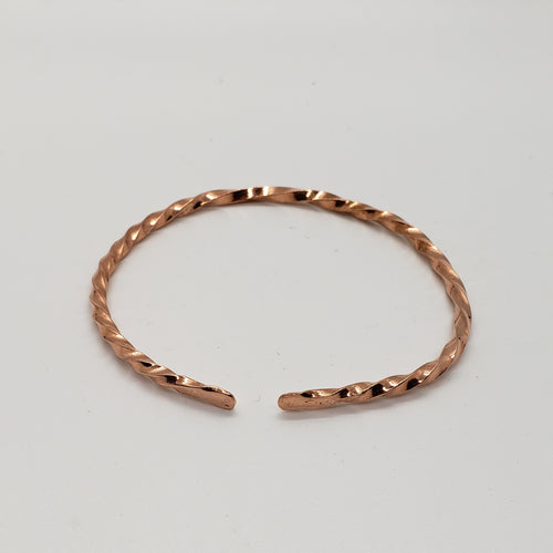Copper Twist Open Bracelet