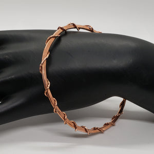 Copper Twist Wrap Bracelet