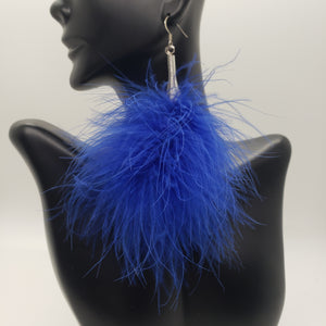 Royal Blue Puff Earrings