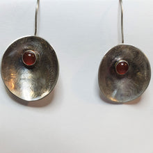 Load image into Gallery viewer, Sterling Silver with Agate Gemstone Disc Earring