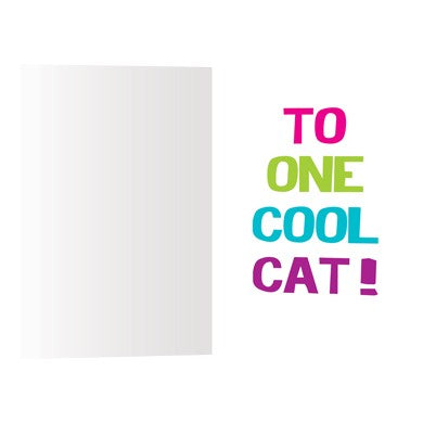 Girls Cool Cats, Birthday Card