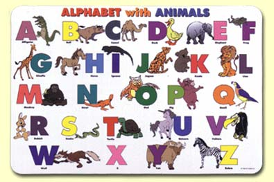 Alphabet with Animals Placemat