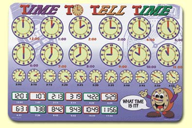 Time to Tell Time Placemat - TIM-1