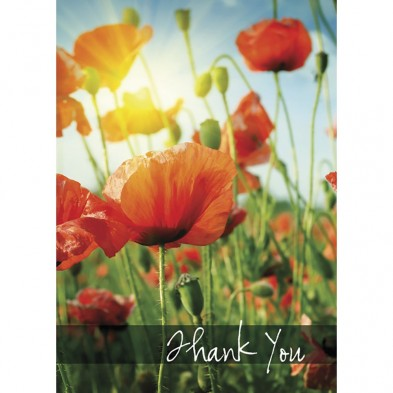 Thank You Poppies, Thank You Card