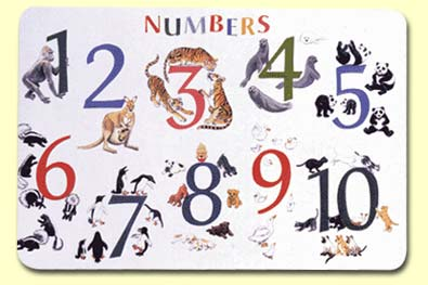 Numbers with Animals Placemat - NUM-1