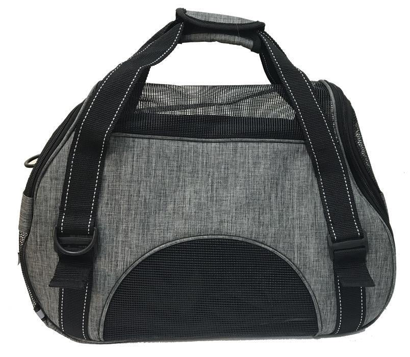 Dogline Carrier Bag Medium Grey Dog