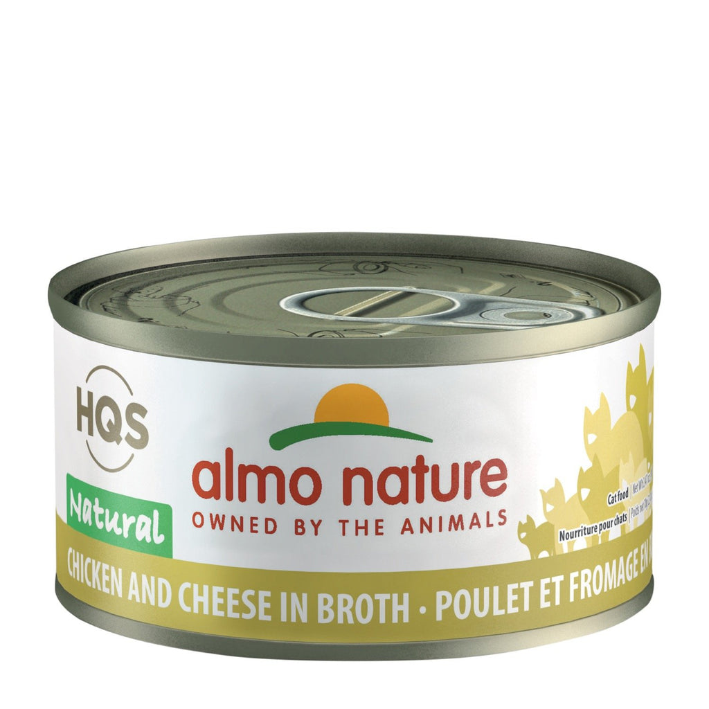 Almo Nature HQS Natural Chicken with Cheese in Broth Cat Can 70g
