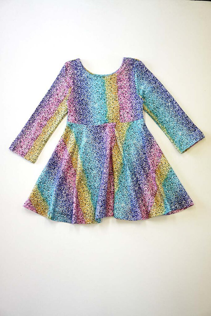 Tie Dye Rainbow Long Sleeve Dress 2