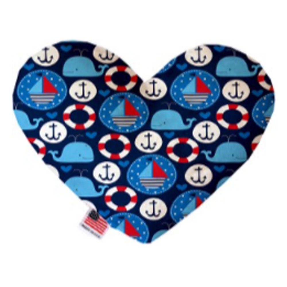 Anchors Away 8 inch Canvas Heart Dog Toy